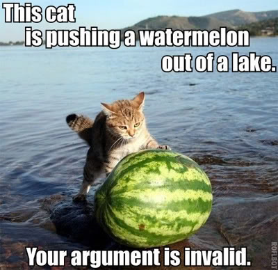 CatPushingWatermelon