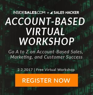 Inside Sales Account-Based Virtual Workshop